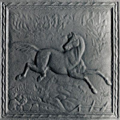 Piastra in Ghisa F124 Cavallo 50×50 Camino