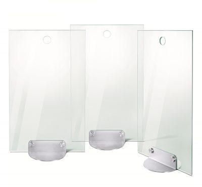 Parascintille set 3 pezzi P164 in Cristallo Temperato