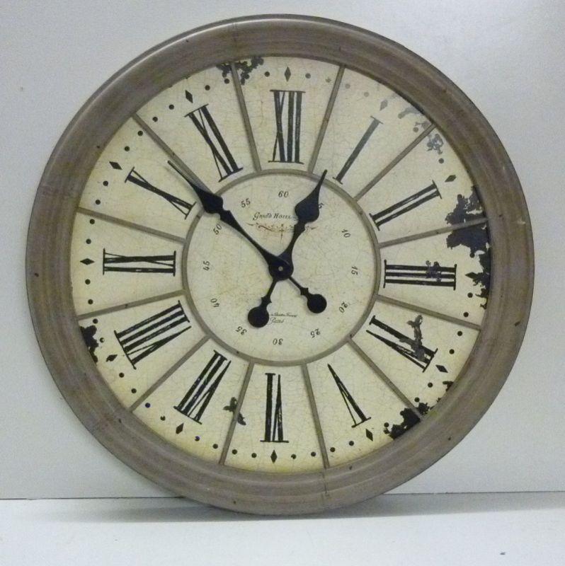 Orologio antico da Parete V159 sopra Camino crema