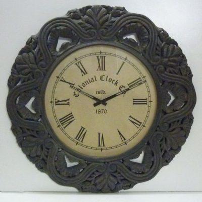 Orologio antico da Parete V161 sopra Camino Legno