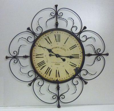 Orologio antico da Parete V163 sopra Camino in Ferro