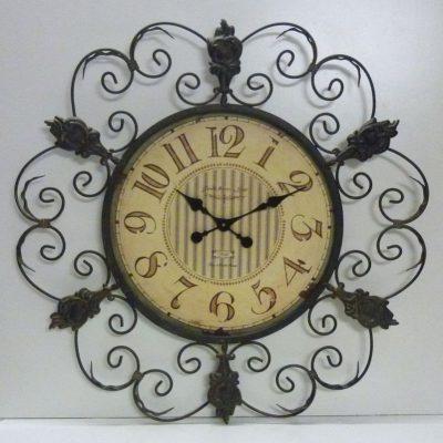 Orologio antico da Parete V164 sopra Camino in Ferro Battuto