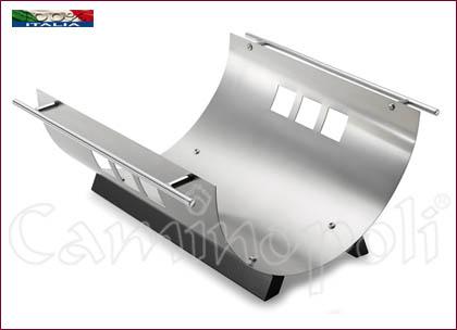 Portalegna moderno in acciaio L118