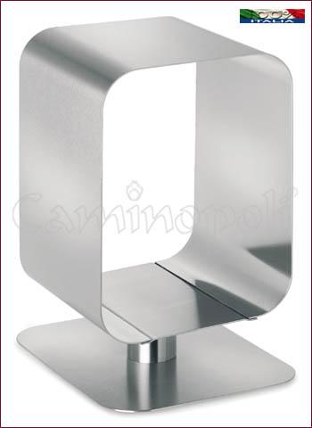 Portalegna design in acciaio L119