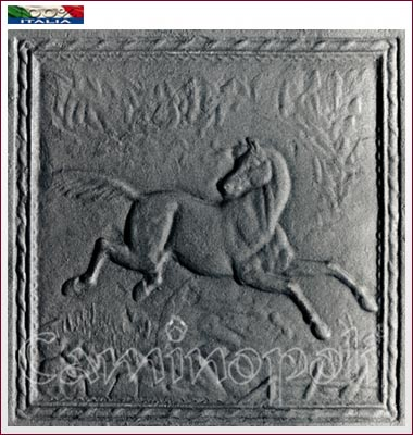 Piastra in ghisa F124 Cavallo 50×50