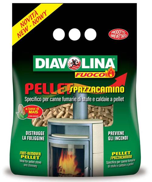 Pellet spazzacamino Diavolina X120 pulitore per la stufa a Pellet