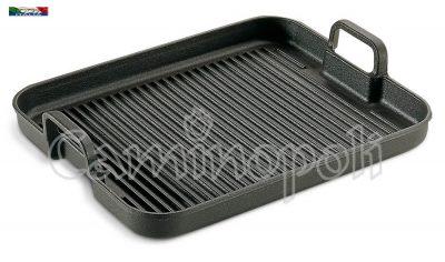 Piastra in Ghisa da Cottura G404 40×40 con Manici Bistecchiera