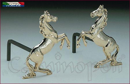 Alari in Ottone A120 Cavallo Rampante