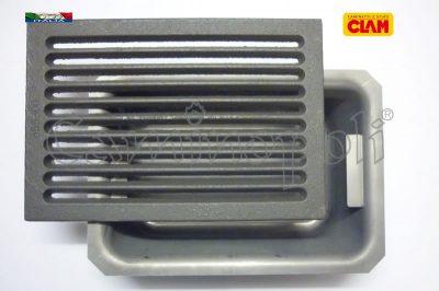 Griglia in Ghisa e Cassetto Cenere G300-5-CLAM 20X30