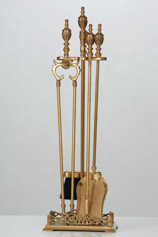 Set attrezzi ottone S171L Camino stile Impero