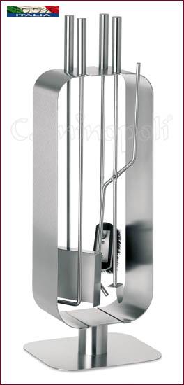 Set attrezzi Moderno 4+1 in acciaio inox S139
